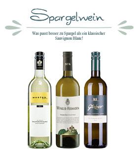 3er Spargelweinpaket Sauvignon blanc